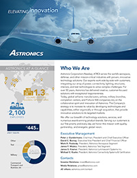 Astronics Fact Sheet