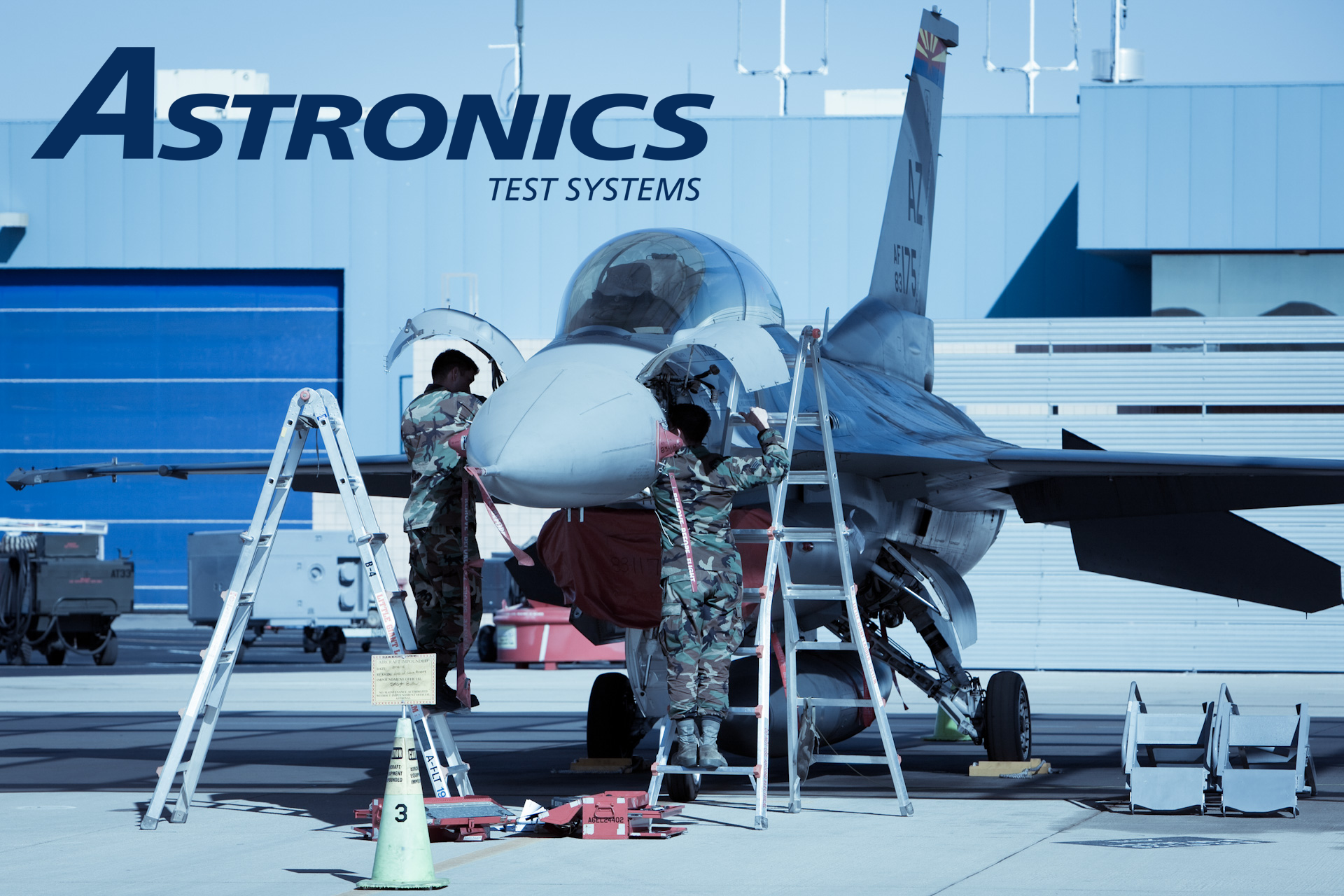 Mechanics working on F16_edited ATS logo