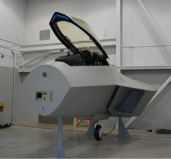Military jet seat and canopy training system