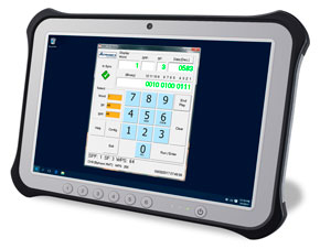 ARINC 717 Flightline Tester Software on Tablet
