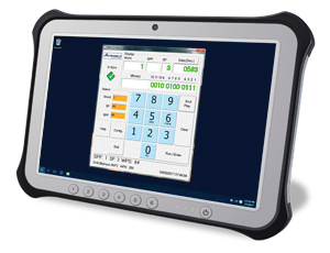 FLT Tester Software on Tablet