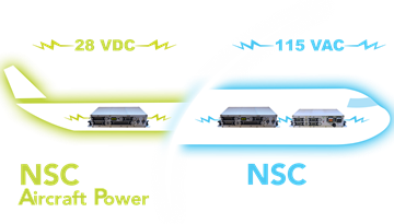 Available in 28 VDC certified Aircraft Power
